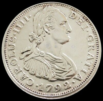1792 Mo Silver Mexico 8 Reales Charles Iii Commemorative Medal .999 Fine Silver