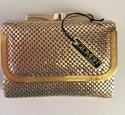 Rare vintage gold Glomesh wallet with tag - never used