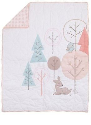 Carter's Woodland Meadow Baby ( Crib Comforter Only ) Peach and Aqua