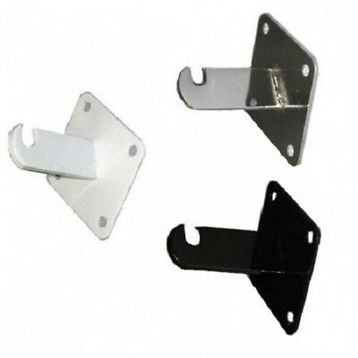 Gridwall Wall Mount Bracket - Grid Panel Mounting Brackets: Black, White, Chrome