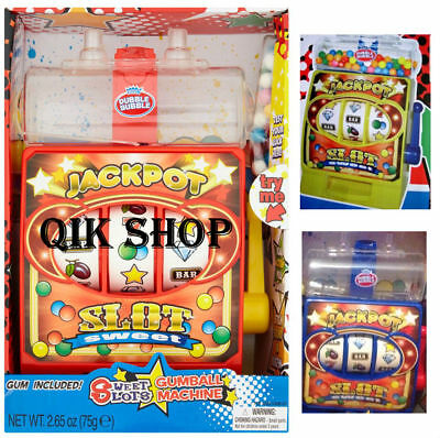 LARGE MUSICAL Gumball & Sweet Dispenser Slot Machine Toy Chewing Bubble Gum Coin