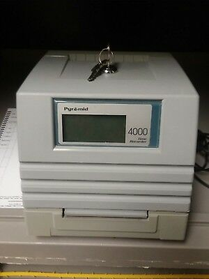 Pyramid 4000 Payroll Time Recorder (Time Clock) and Accessories