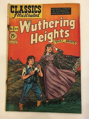 Classics Illustrated Comics lot of 1 Canadian issue # 59 hrn 62