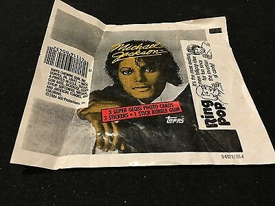 1984  *MICHAEL JACKSON* Trading Cards WAX WRAPPER