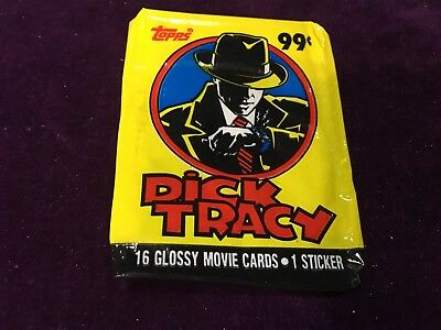 Dick Tracy Trading Card Wrapper - Empty Wrapper Only - Topps