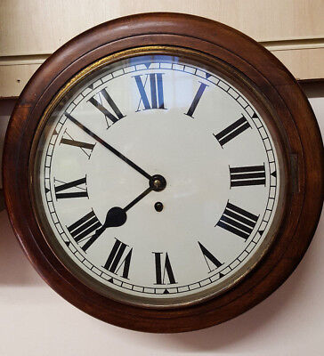 Vintage Circular Office Wall Clock with 8 Day Movement