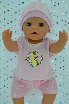 """Play n Wear Doll Clothes To Fit 17"""" Baby Born BUTTERFLY PANTS~TOP~HAT"""