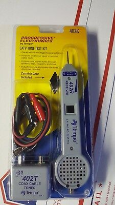 Tempo 402K CATV Cable Tone Test Kit satellite dish coax LOOK!!!! RG6 RG59 RG11