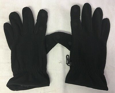 Freehands Men's Medium Unlined Fleece Black Gloves