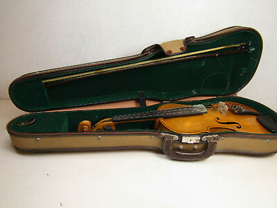 * Vintage Stainer Full Size Violin Rebuilt by Harold Kay 1986 Bundled W/ Case