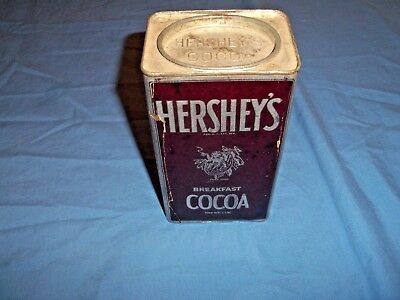 Vintage Hershey's Breakfast Cocoa Bean Baby Paper Label Tin Can Pa Old & NEAT AV