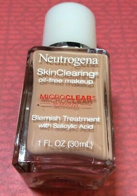 NEW Neutrogena SkinClearing Oil-free Makeup Buff 30 Microclear Tech Expires 2/18