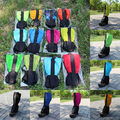 Outdoor Waterproof Hiking Climbing Ski Snow Gaiters Leg Cover Boot Shoes Hot