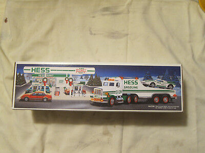 1991 Hess Toy Truck And Racer New In Original Box