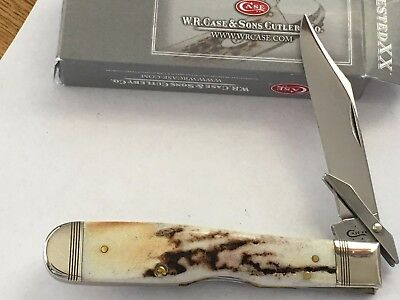 Case XX 5111 1/2L SS Lock Back Knife Beautiful Stag In Case Box