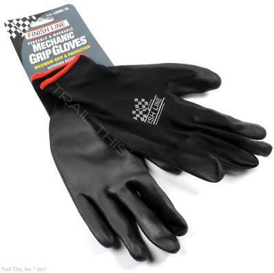 Finish Line Bicycle Mechanic Grip Gloves Latex Free - Large Size (L / XL)
