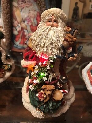 """Boyds Bears """"FATHER CHRISTMAS..BEARING GIFTS""""Lighted Figurine -Santa 1st Edition"""