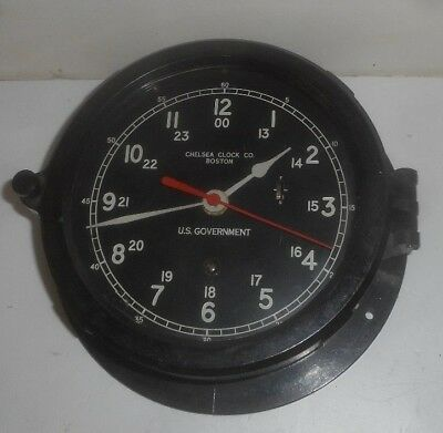 Chelsea Ship Clock Boston U.s. Government Military Maritime Working Sweep Second