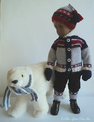 """Ice Bear"". A 5 Pcs Outfit for Gregor/Sasha Doll by ""The Spin I'm In."""