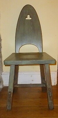 Beautiful Rare REISCHMANN Oak Misson Arts and Crafts Cut Out Side Chair