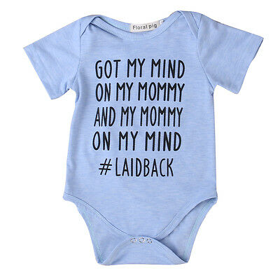 Cute Newborn Baby Boy Girl Short Sleeve Romper Jumpsuit Bodysuit Clothes Outfits