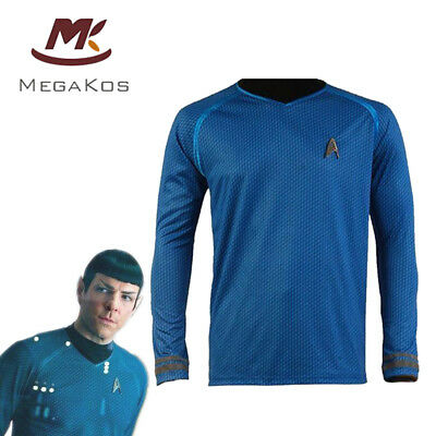 Star Trek Into Darkness Hemd Uniform Cosplay Kostüm Karneval Fasching Party Blau