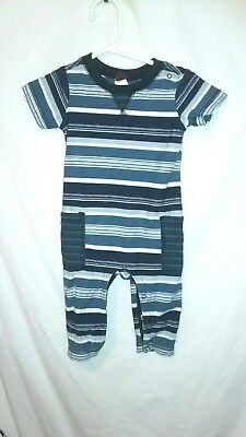 tea collection boys 3-6 months multi color striped short sleeve cotton one piece