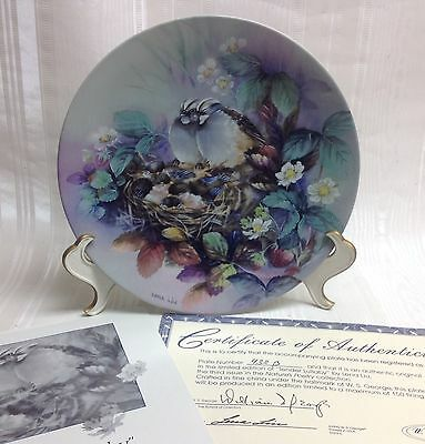 1990 Tender Lullaby/Nature's Poetry/Lena Liu-Sparrow,Plate-OB,w/Cert Of Auth.