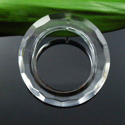 50mm Clear Handing Ring Chandelier Glass Crystal Lamp Prisms Part Drop Pendant