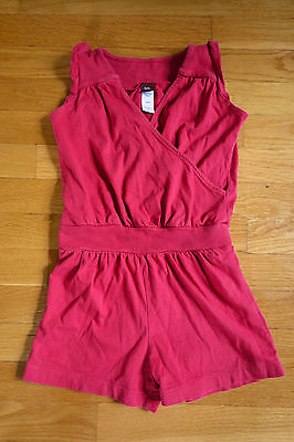 Tea Collection Girls Red One-Piece Romper in Size 5