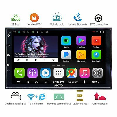 ATOTO A6 2DIN Android Car GPS Stereo /2A Charge/A62710P/2S Boot/Bluetooth/SD/USB