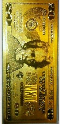 ~Great Detail~Gold U.s $20 Banknote Rep.*fine.999 Free Shipping In U.s.a.