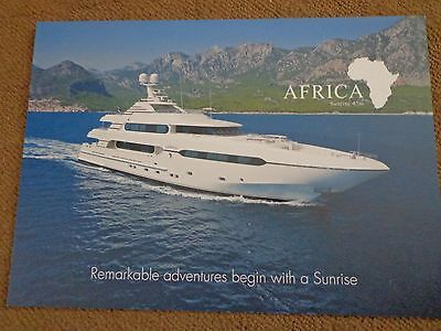 """Yachting Sunrise Yachts 45M """"africa"""" Color  Marketing Specifications Brochure"""