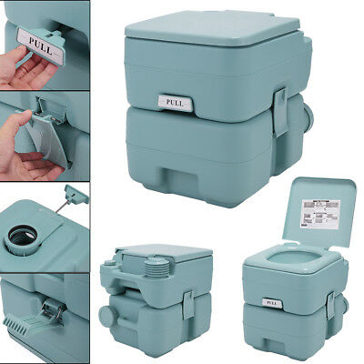 5 Gallon 20L Portable Toilet Flush Travel Camping Commode Potty Indoor/Outdoor