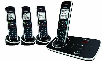 Uniden Elite 9135+3 Digital Cordless Phone Bluetooth Pair Up To 4 Mobile Phones