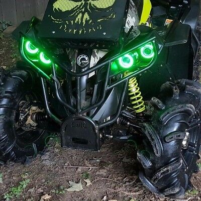 Can-Am Halo Rings headlights - set 4 Canam Renegade GREEN