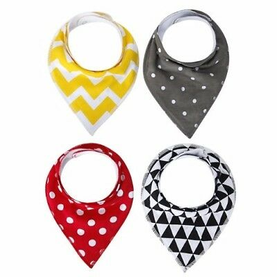 Baby Bandana Drool Bibs,4-Pack Gift Set for Drooling and Teething,Unisex Design