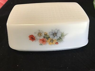 Pyrex Milk Glass Covered BUTTER DISH