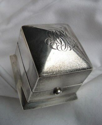 Wright, Kay & Co Art Deco Sterling Silver Ring Box w/Hinged Lid