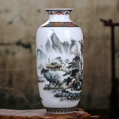 Ceramic Vase Vintage Chinese Antique Style Painted Decor Art Home Decoration