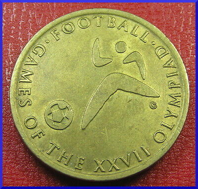 Sydney Olympics SHELL FUELLING THE GAMES ~ FOOTBALL token