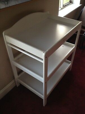 Baby Changing Table, White with Shelves. possibly Mothercare