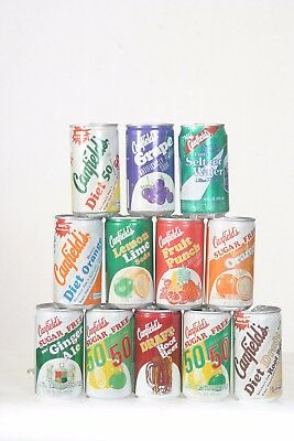 12 Canfield's Soda Cans - All Different & Empty