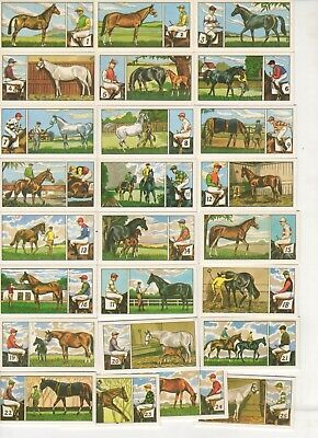 Anonymous Horse Racing, Jockey and Owner Colour Cards 1963 FULL SET