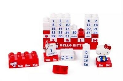 Hello Kitty Building Block Puzzle Calendar - Red