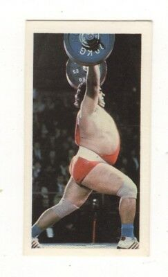 Olympic Games Weight Lifting Card 1979. Vasily Alexeyev, USSR