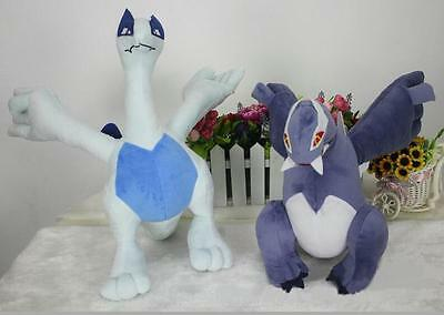 "Pokemon Center 11"" Lugia & 12"" Mega Shadow Lugia Stuffed Plush Doll Toy set 2pcs"