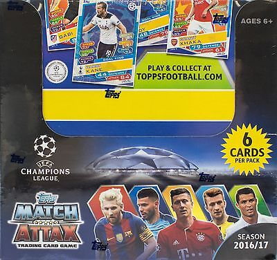 Uefa Match Attax 2016/17 1 Factory Sealed 50 Packet Box