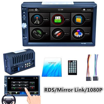 2Din 7Zoll TFT Touchscreen Pkw Auto MP5 Player Bluetooth Radio Stereo FM/AM/RDS