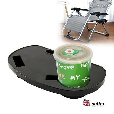 Deck Chair Clip On Side Table Garden Tray Drinks Holder Camping Outdoors Fishing